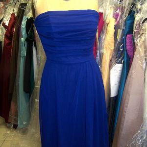 Lela Rose 143...strapless dress...Royal...Ss 16