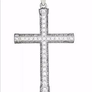 Certified Fashion Round Cross Pendant Micro  925