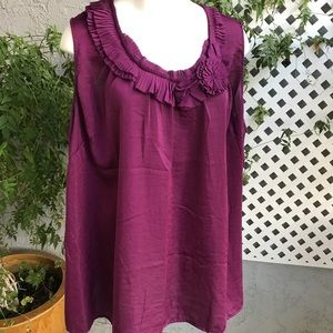 LANE BRYANT Purple Dressy Tank Top Blouse Plus 28