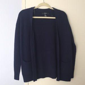 Forever 21 Navy blue cardigan