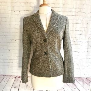 NWOT Ann Taylor houndstooth wool lined jacket