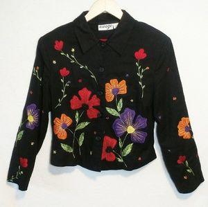 Vintage Embroidered Beaded Floral Jacket