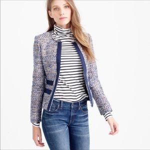 J crew Metallic tweed jacket size 4
