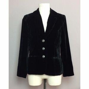 Tesori Black Velvet Blazer