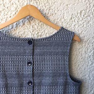 Banana Republic L knit button back sleeveless top
