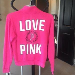 PINK 3/4 Zip Sweatshirt