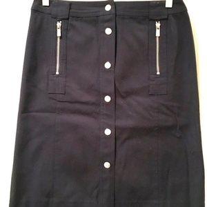 NWOT Michael Kors Long Button Skirt Zippers