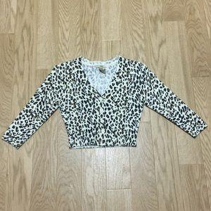 Cropped Leopard Cardigan