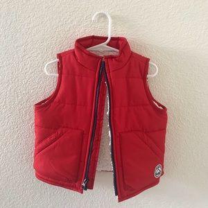 Baby Gap Red Fleece Vest