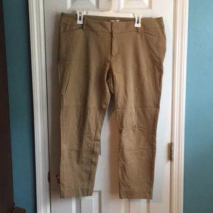 Tan ankle pants