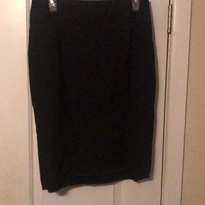 Black processional skirt