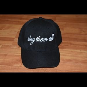 Beyoncé inspired dad hat - slay them all - cursive