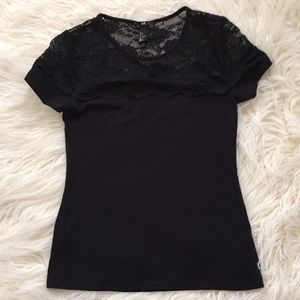Lace top T-shirt