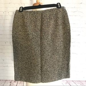 NWT Ann Taylor houndstooth wool pencil skirt