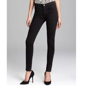 J Brand Skinny Leg Jeans Black Super Stretch 28