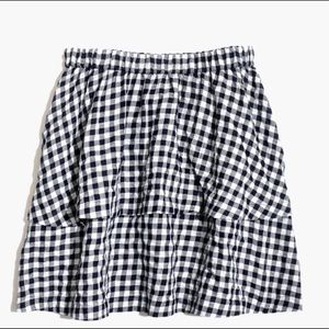 Madewell gingham tier skirt