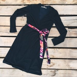 TRINA TURK STITCH FIX Black wraps dress S