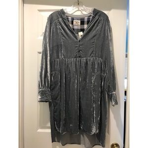 Anthropologie Long-sleeve Velvet Dress