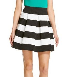 Xhilaration Cupcake Black White Striped Skirt