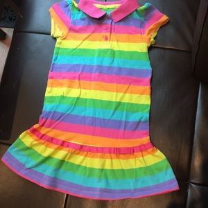 Rainbow colored dress for girls by CARTERS