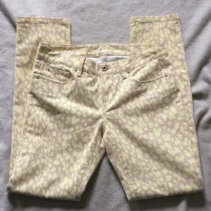 The Loft Cheetah Print Jeans Size 0