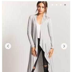 Jersey knit draped cardigan