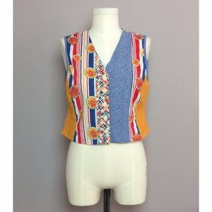 Vintage Mixed Media Citrus Vest