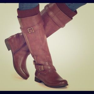 Brown Riding Boots W/ sweater top