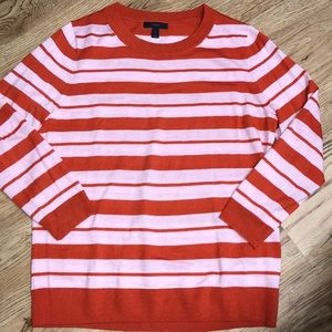 J Crew Striped Tippi Sweater Size Large