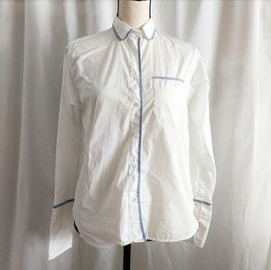 PRE-OWNED J.CREW WHITE BUTTON UP SHIRT SIZE 0