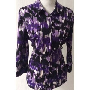 Purple & Black Top Size XL