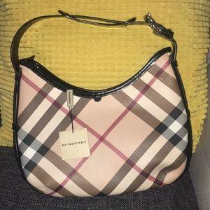 Authentic Burberry Nova check hobo - shoulder bag