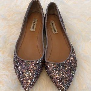 Steve Madden Glitter / Sparkle Pointy Toe Flat
