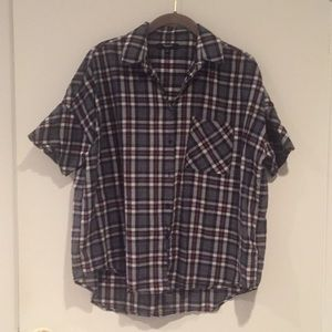 Madewell plaid courier shirt - size s