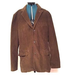J Crew Mens Corduroy 3 button Blazer Brown Size XL