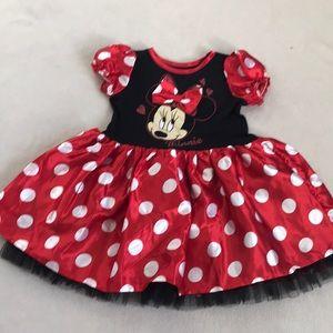 Disney Minnie Mouse Red Polka Dot Tutu Dress