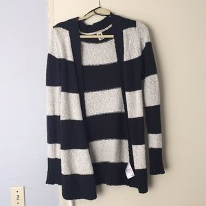 Roxy striped navy blue and white cardigan!