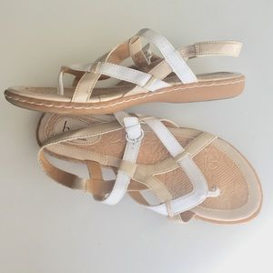 Born Concept comfort walking sandal white & nude