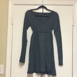 Comfy Cotton Empire Waist Dress with Hood