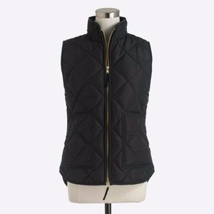 J. Crew Factory Black Quilted Puffer Vest Size XS