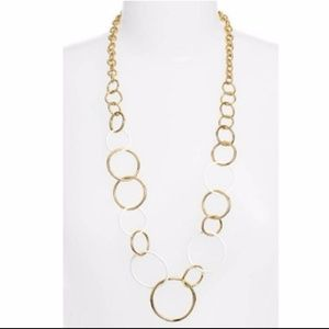 """Kate Spade """"Chain of Events"""" Gold Long Necklace"""