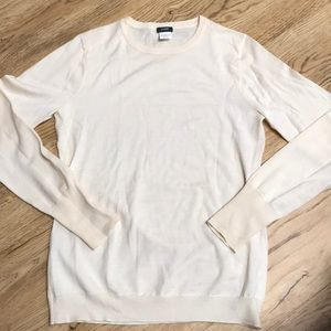 J Crew Ivory Sweater Size Large