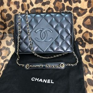 Chanel quilted diamond flap bag