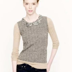 J. Crew CollectionJeweled Collar Sweater NWOT