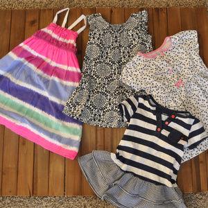 Bundle of 4 Toddler Dresses