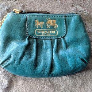 Coach teal change purse
