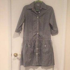 Steven Alan gingham shirt dress with belt - size s
