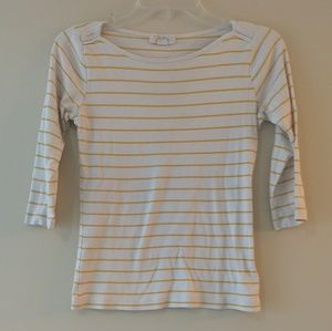 5 for $25 sale Striped fitted 3/4 sleeve t-shirt