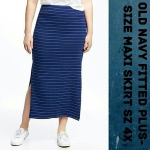 NWOT-OLD NAVY fitted plus size Maxi skirt sz 4x