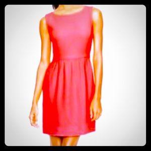 J.CREW Camille neon rose sleeveless short dress